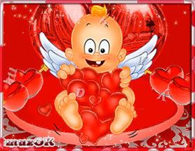Красивое и веселое видео с Днем влюбленных.