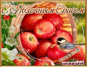 Очень красивое поздравление с Яблочным спасом. Видео.