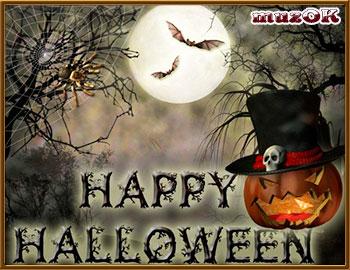 Счастливого Хэллоуина. Видео открытка.