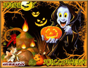 Музыкальные и видео открытки на Хэллоуин (Happy Halloween).