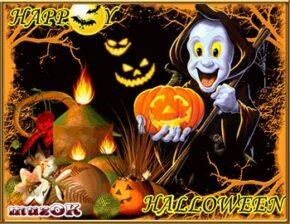 Музыкальные и видео открытки на Хэллоуин. Happy Halloween.